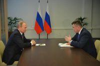Двусторонняя встреча президента России Владимира Путина и губернатора Приморья Владимира Миклушевского.