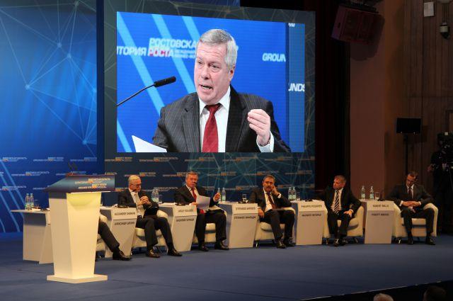 Донской губернатор уже второй год подряд выступает с инвестиционным посланием