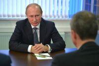 Во время встречи Президента и губернатора Приморья.