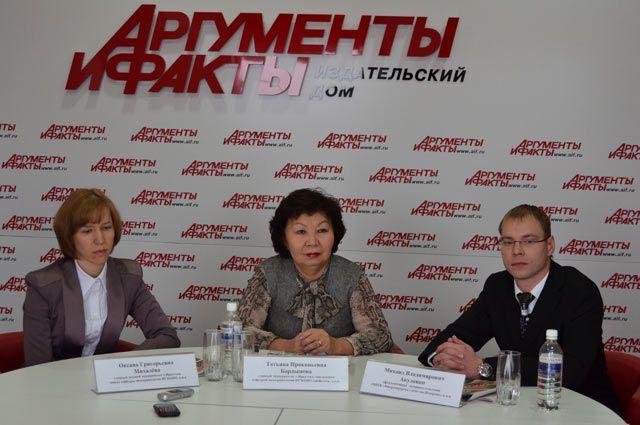 Оксана Михалева, Татьяна Бардымова и Михаил Акуленко.
