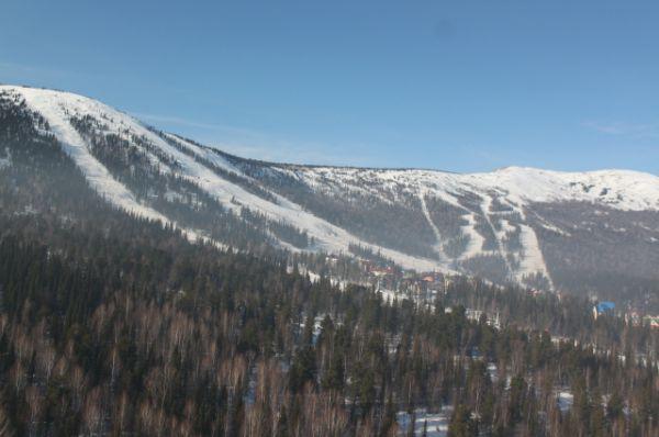 Большую часть Горной Шории на высоте 600-1200 м занимает темнохвойная тайга.