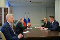 Президент России на двусторонней встрече с губернатором Приморья.
