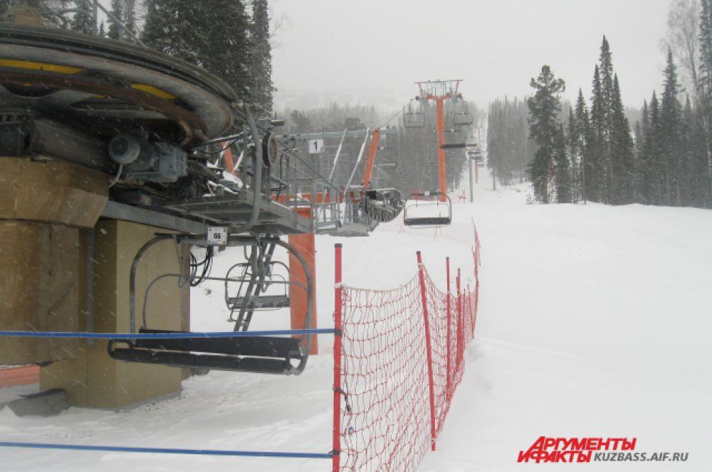 Строительство горнолыжного комплекса началось еще в 1980 году.