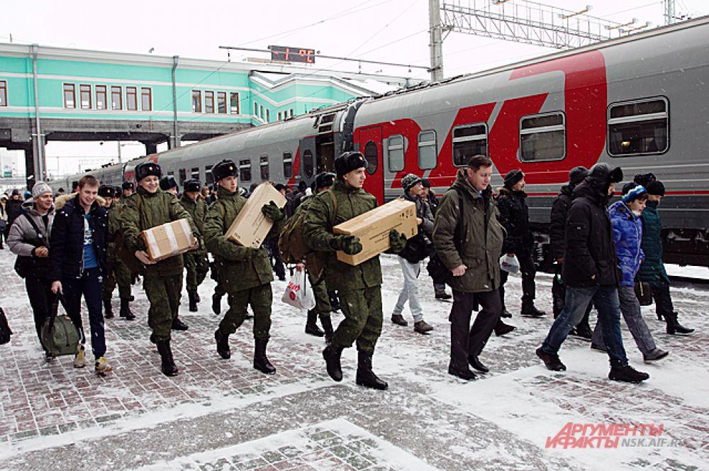 Всего в Президентский полк отправили 15 призывников.