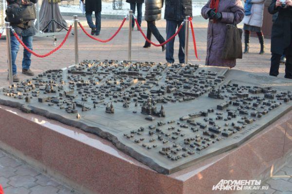 Модель выполнена в масштабе 1:500, ее площадь составляет 4 кв. метра