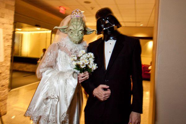 «Звездные войны» – одна из самых популярных свадебных тем.