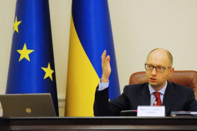 Премьер-министр Украины Арсений Яценюк проводит заседание Кабинета министров Украины.