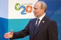 Президент России Владимир Путин перед началом рабочего заседания глав делегаций государств-участников «группы двадцати».