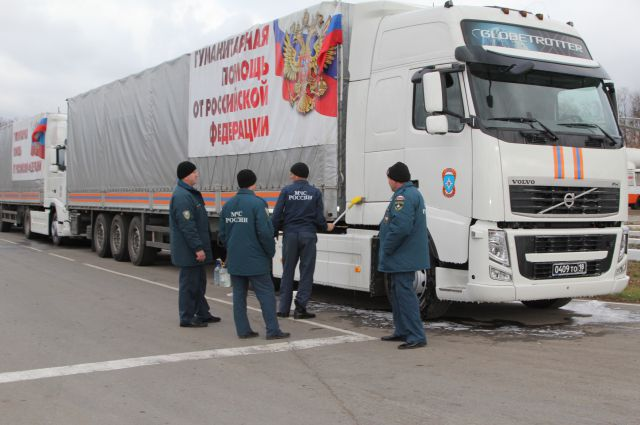 Седьмой по счёту гуманитарный конвой формируется под Ростовом
