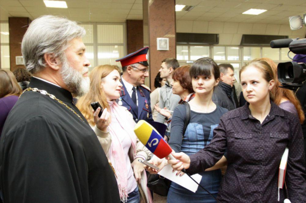 Живой интерес ростовских СМИ к участникам Чтений.