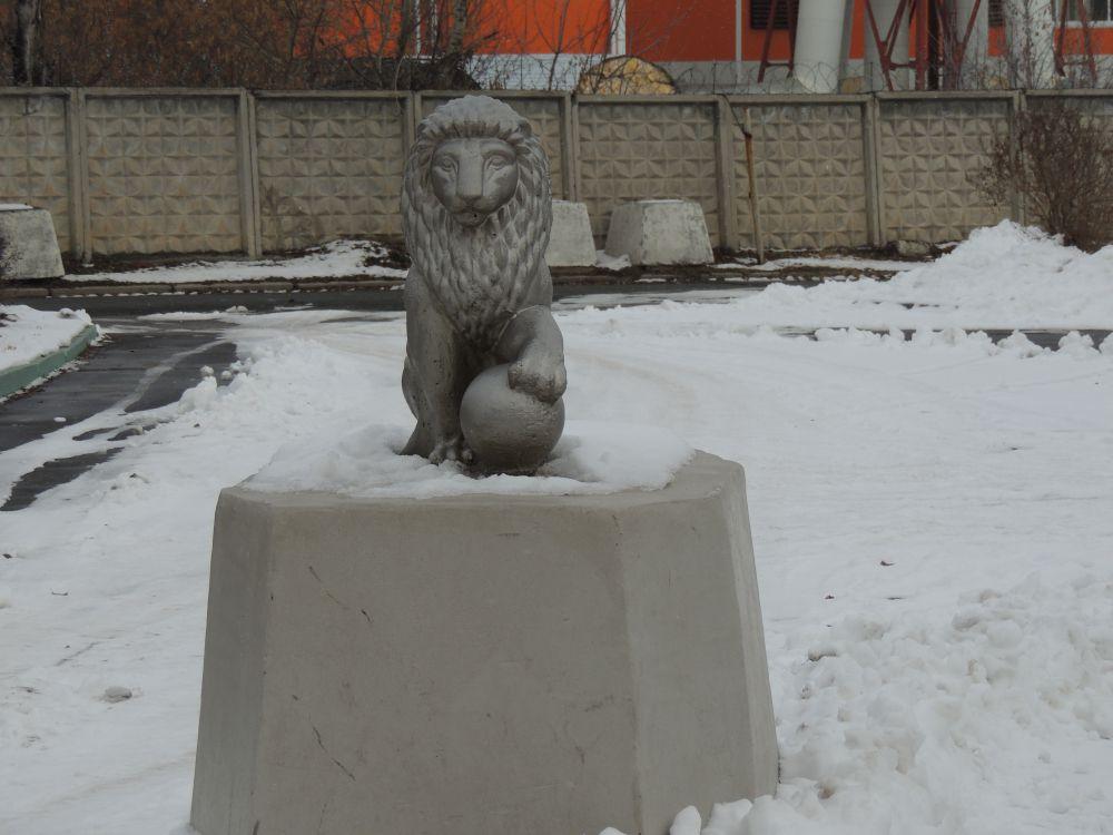 Неживой обитатель зоопарка.