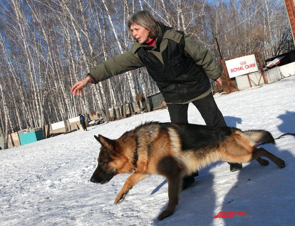 Светлана Дорохова и немецкая овчарка Эрик