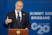 Президент России Владимир Путин выступает перед журналистами напресс-конференции поитогам участия всаммите «Группы двадцати» вавстралийском Брисбене.