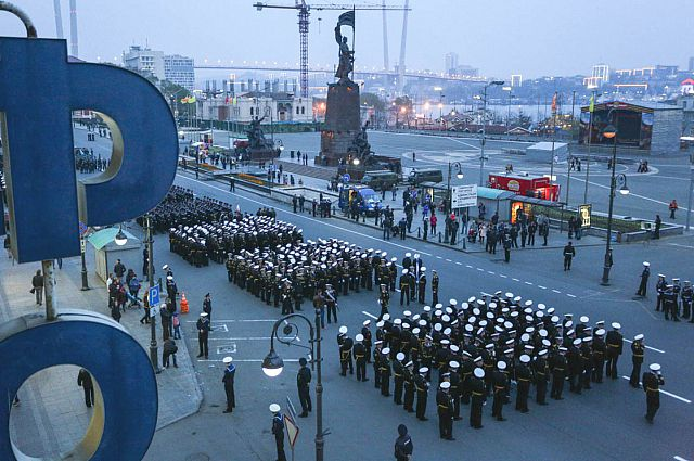 Репетиция парада Победы во Владивостоке.