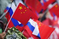 Флаги России и Китая.