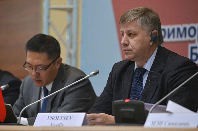 Василий Усольцев на пленарном заседании международного форума.