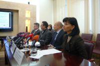 Участники пресс-конференции в ПАО «Киевводоканал