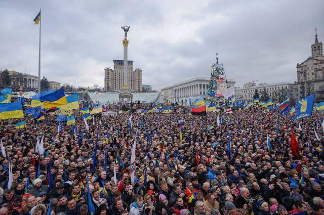 События на Майдане в начале 2014 г.