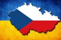 Флаги Украины и Чехии