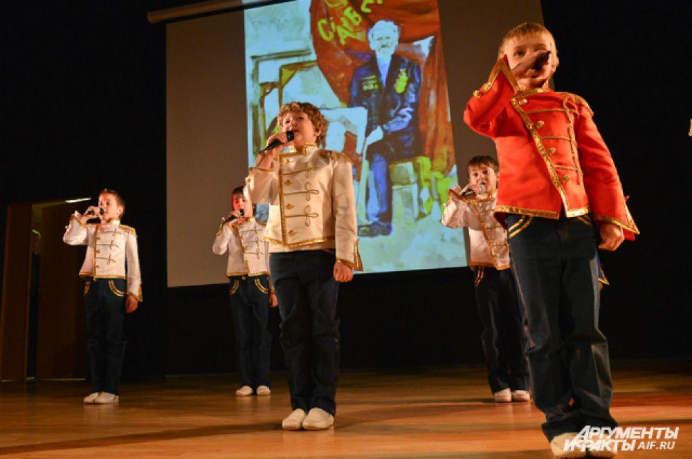 Завершали «Урок мужества и чести» самые молодые артисты из детского музыкального театра «Домисолька»!
