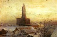 Картина Саврасова «Сухарева башня».