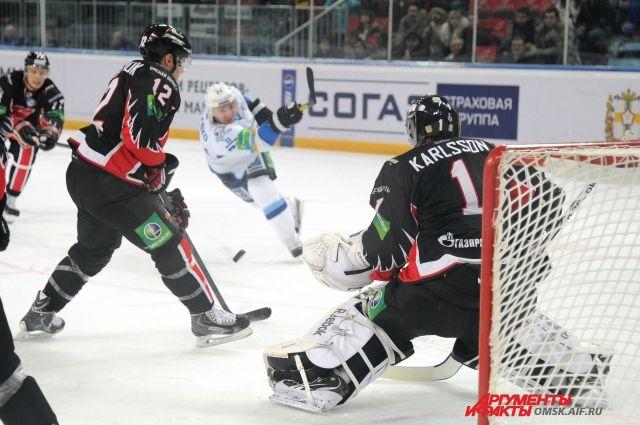 Хоккейный матч «Авангард»-«Барыс».