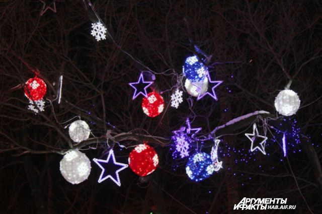 Такое световое офрмление парка «Динамо» можно было видеть год назад