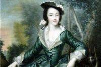 Портрет великой княгини Екатерины Алексеевны в охотничьем костюме. Георг-Христоф Гроот, 1740-е гг.