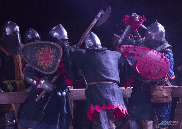 Но, когда стартовал поединок, они сражались, как настоящие богатыри прошлого