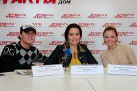 Юрий Симачев, Эльвира Романова и Анастасия Клокотова
