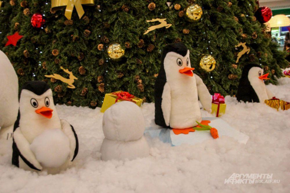 В оформлении использованы уже бывалые пингвины.