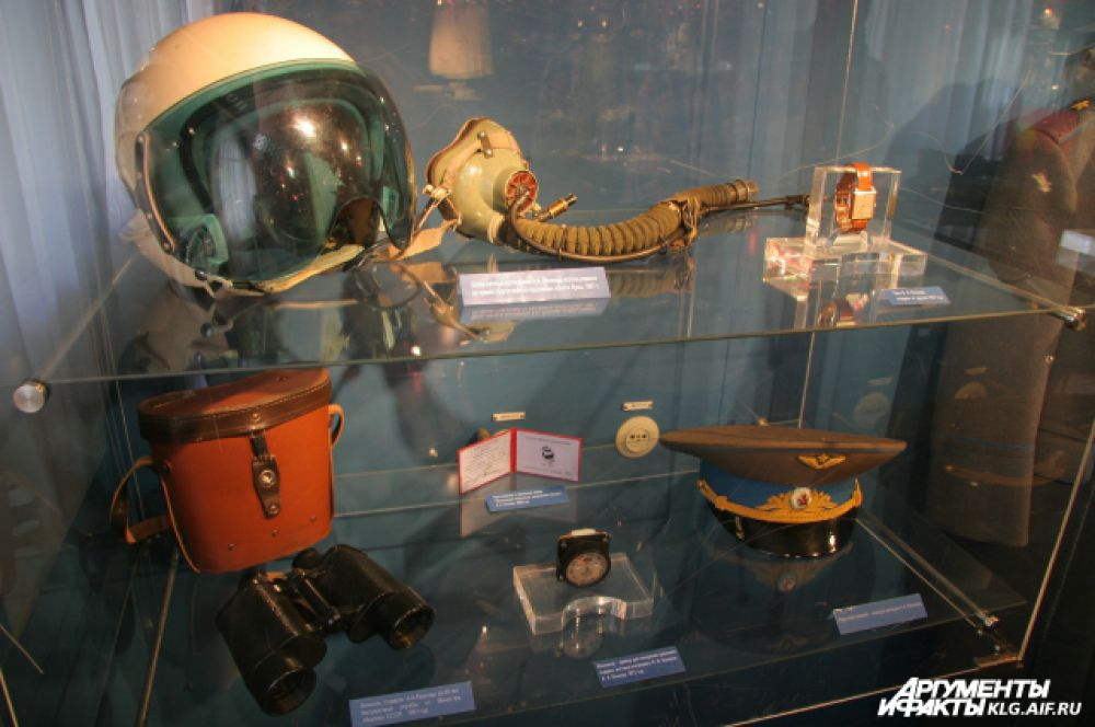 Одна из выставок посвящена открытиям в области космонавтики.