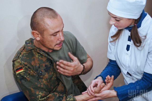 Военнослужащий в госпитале