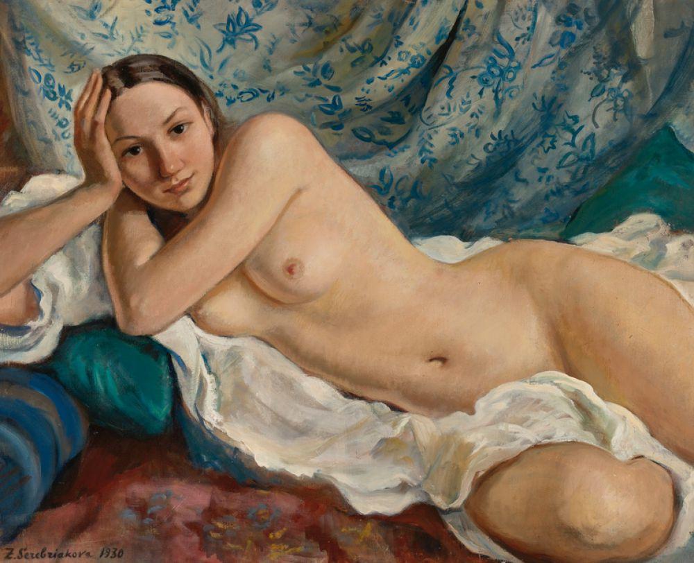 Вторым топ-лотом дома Sotheby's оказалась картина Зинаиды Серебряковой «Обнаженная». Покупатель приобрел полотно за 1,1 млн долларов.