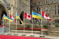 Флаги Украины и Канады