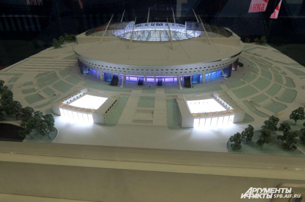 """Макет """"Зенит - Арены"""" готов, а сам стадион сдадут через два года"""