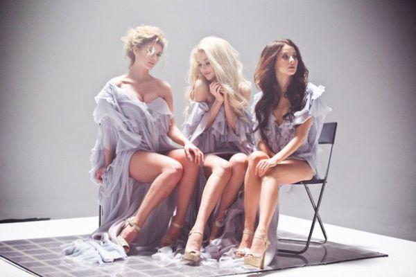 Группа «ВИА Гра» на съемках клипа «Кислород»