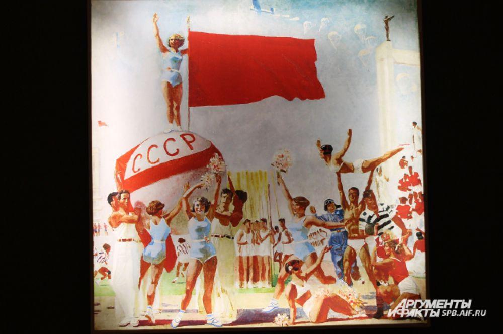 В 1937 году для заключительного зала Советского павильона Международной выставки в Париже Самохвалов написал панно «Советская физкультура» и получил за него Гран-при.