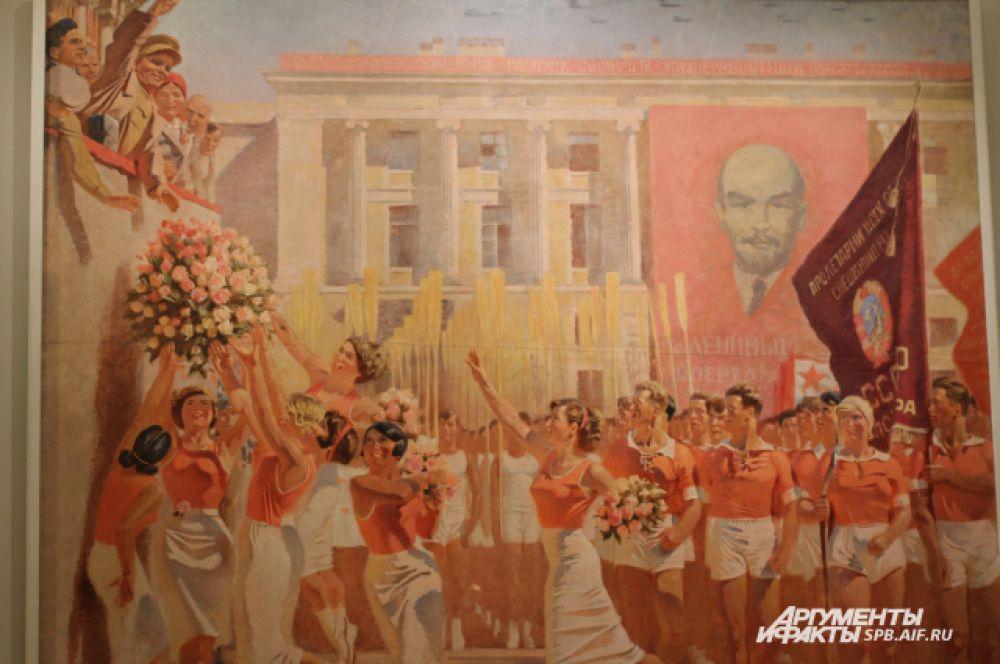 С.М.Киров принимает парад физкультурников. 1935 год