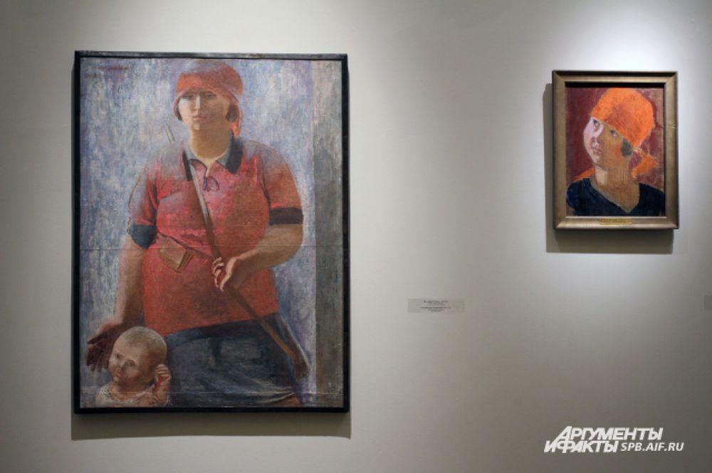 Картина На страже Родины. 1929-1931 гг. Портрет работницы. 1927 год.