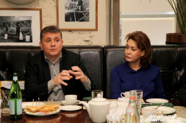 Алексей Нигматулин - директор ОАО «Реактив» и Ирина Иванова - депутат ЗакСа, член комиссии по экономике, промышленности и собственности