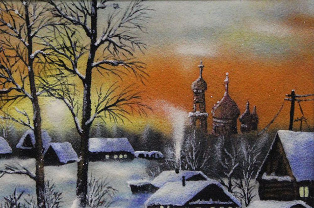 Излюбленное время суток на картинах Бредихина – закат.