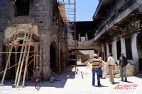 Сирия. Хомс. Работы по восстановлению одного из древнейших христианских храмов Сирии — церкви Пояса Богородицы.