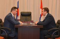 Встреча губернатора с Романом Титковым.