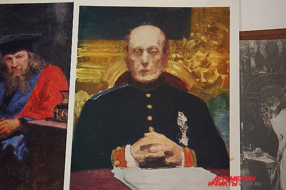 К. Победоносцев - фрагмент картины Репина «Торжественное заседание Государственного Совета».
