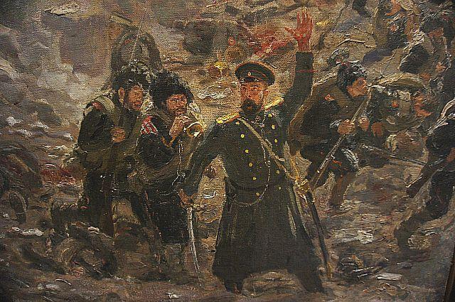 Фрагмент картины Юрия Репина «Тюренчен. В славной смерти - вечная жизнь».