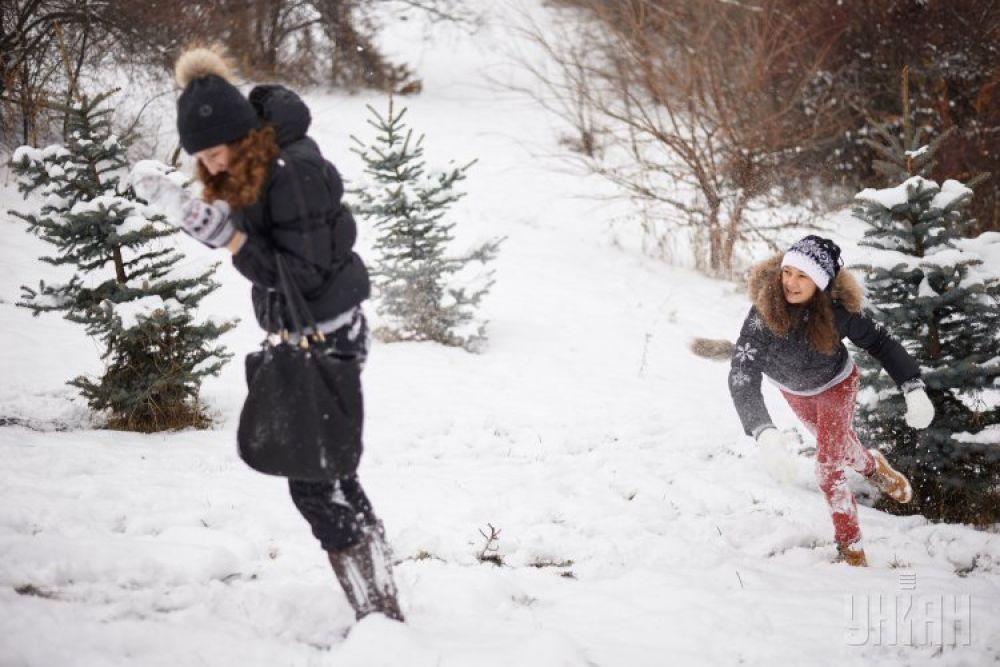 Битва в снежки в Киеве