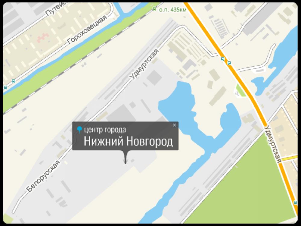 Географический центр Нижнего Новгорода находится на территории промышленной зоны по улице Белорусской. Рядом расположено административное здание Нижегородского пассажирского автотранспортного предприятия НПАП-2. В общем, как говорят местные, до того, что они считают центром, отсюда далеко.