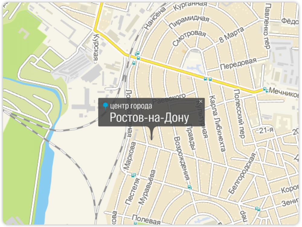 Географический центр Ростова-на-Дону расположен в Ленинском районе, среди частных домов Псковского переулка.
