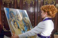 Кадр из фильма «Титаник». Героиня любуется картиной Пикассо «Авиньонские девицы».